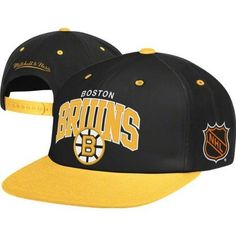 Mitchell & Ness Boston Bruins Arched Logo Retro Vintage Snap Back Hat by Mitchell & Ness. $28.00. Help support your favorite team in this NFL Retro Snap Back Hat from Mitchell & Ness. Features embroidered logo's, stylish adjustable snap back, and contrasting team colors for added style. Made of 100% wool and officially licensed by the NFL.