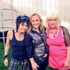 Joan Jett, Melissa Etheridge and Debbie Harry. 3 of my favorite bad ass gals.
