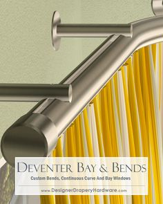 Popular colors like White, Satin Nickel and Brass are all available with the Deventer series of hand-draw rods! http://www.designerdraperyhardware.com/forest-group-deventer-1-1-8-inch-hand-draw-light-duty-h-rail-43178/ #homedecor #interiordesign #curtains #windowtreatments #designideas #curtainrods #baywindow