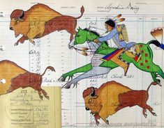 Buffalo Hunt at the Great Falls Native American Crafts, Native American Artists, American Indian Art, Native American History, Native American Indians, Native Americans, Mandala Painted Rocks, Indian Crafts, Southwest Art