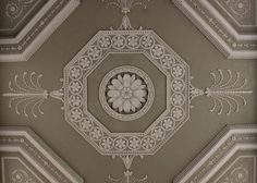 Portico Ceiling: Osterley Park House by Adam. Notice the anthemion.