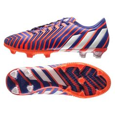 Get the control focused Adidas Predator Instinct FG Soccer Cleats (Solar  Red White  b4ea9ad54328c