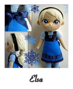 patron gratis amigurumi elsa frozen  http://annie-88.deviantart.com/art/Elsa-crochet-toddler-doll-Now-with-pattern-504927375