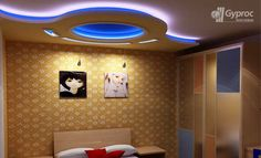 Saint Gobain Gyproc offers an innovative residential ceiling design ideas for various room such as living room, bed room, kids room and other spaces. Gypsum Ceiling Design, House Ceiling Design, House Design, Bedroom Pop Design, False Ceiling Bedroom, Game Room Design, Ceiling Decor, Modern Interior Design, Decoration