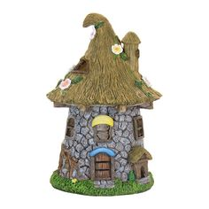 A lovely addition for your fairy garden http://www.fairygardenfun.net/products/solar-lighted-stone-cottage-straw-with-flowers-roof?utm_campaign=social_autopilot&utm_source=pin&utm_medium=pin