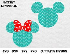 Mermaid Scales Mickey and Minnie Ears, Disney Inspired, Cutting files in Svg, Png, Dxf and Eps Formats Mickey Mouse Head, Disney Mouse, Minnie Mouse Party, Mickey Ears, Mouse Ears, Disney Mickey, Eeyore, Disney Picture Frames, Cricut Explore Projects
