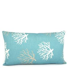 Wonders of the Sea Turquoise Reversible Lumbar Pillow - Chloe & Olive