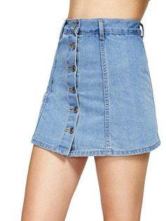 Stagioni Fashion for Women, Denim Skirts for Women. Item: Single Breasted Denim Skirt Shorts for Women Denim Skirt Outfits, Blue Denim Skirt, Denim Shorts, Denim Dresses, Jean Skirt, Black Shorts, Denim Fashion, Look Fashion, Fashion Outfits