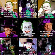 Batman- Jack Nicholson as the Joker