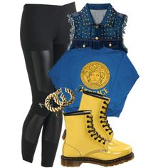 A fashion look from February 2013 featuring Versace sweatshirts, Forever 21 vests and MINKPINK leggings. Browse and shop related looks.