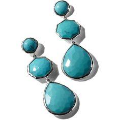Ippolita Turquoise Crazy-Eight Wonderland Earrings ($995) ❤ liked on Polyvore