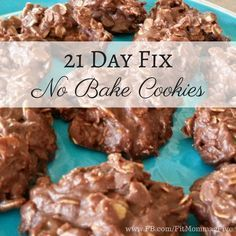 21 Day Fix No Bake Cookies makes about 24-30 depending on size, serving size is 1 large or 2 small depending on how big you make yours 1 cup natural peanut butter 3/4 cup honey 1/2 cup coconut oil …