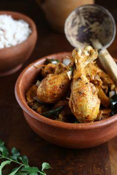 Nadan Kozhi Curry - Kerala Style Chicken Curry