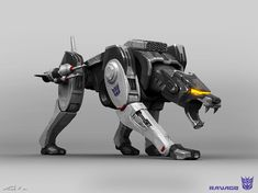 Ravage from Transformers: Bumblebee. A collab design done with the talented Karl Lindberg. We originally tried the puma approach but as we progressed (and began wondering why Ravage should look like a creature from Earth) we tried to make him more of a Transformers Decepticons, Transformers Bumblebee, Transformers Movie, Horizon Zero Dawn, Godzilla, Robot Animal, Transformers Collection, Arc Reactor, Mecha Anime