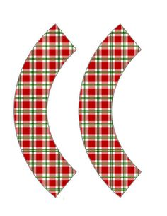 Candy Cane Gingham Cupcake Wrapper #christmas