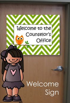 """Printable Counseling Welcome Sign """"Welcome to the Counselor's Office"""""""