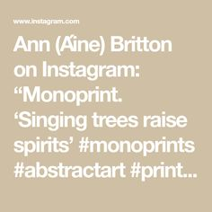 "Ann (Áine) Britton on Instagram: ""Monoprint. 'Singing trees raise spirits' #monoprints #abstractart #printmaking #contemporaryart #fineart #emergingartist @annbrittonartist"" Printmaking, Raising, Contemporary Art, Abstract Art, Singing, Ann, Trees, Spirit, Fine Art"