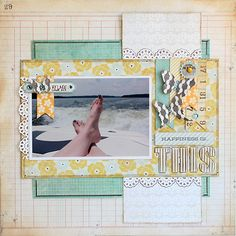 Scrapbook Layout by Juliana Michaels