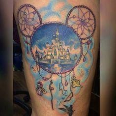 Disney dream catcher tattoo by ma 1 4 primark Mickey Mouse Tattoos, Disney Tattoos, Piercing Tattoo, Dream Catcher Tattoo, Tattoo Videos, Friendship Tattoos, Sleeve Tattoos For Women, Sexy Tattoos, Tatoos