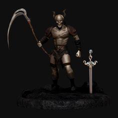 Skull Warrior on Behance