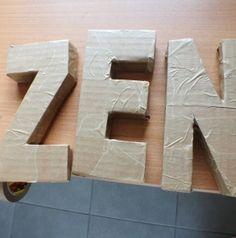 1000 images about lettres on pinterest zen giant letters and deco - Lettre en carton geante ...
