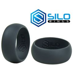 Bevel Silicone Wedding Rings for Men and Women in 5mm 6mm 8mm