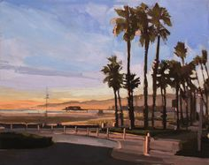 "Aaron Hauck; Oil, 2012, Painting ""Santa Monica"""
