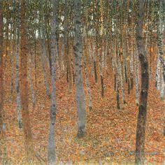 Beech Grove I Gustav Klimt Forêt Peintures à l'huile
