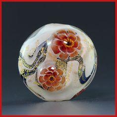 Ikuyoglassart-Handmade-Lampwork-Flower-Focal-Glass-Bead-SRA