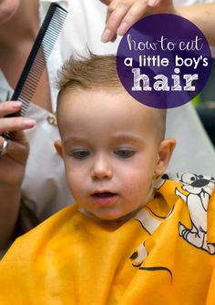 How To Cut A Little Boy's Hair - a video and step-by-step picture tutorial on how to cut your toddlers hair!