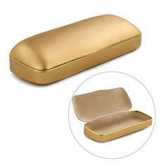 Glasses Case Holde Metal Hard Matte Protable Eyeglasses Box Glasses Protection  #Unbranded