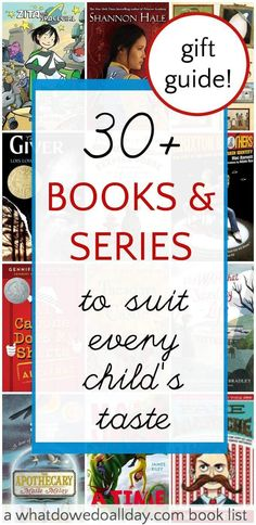 Children's chapter books for a variety of interests. Save this lists for gifts.