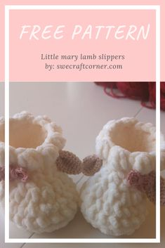 Little mary lamb slippers – FREE crochet patternHi! I wanted to share this pattern with all of you, i have had Crochet Baby Sandals, Knit Baby Booties, Crochet Baby Clothes, Newborn Crochet, Baby Booties Free Pattern, Baby Shoes Pattern, Baby Patterns, Crochet Baby Bootie Pattern, Doll Patterns