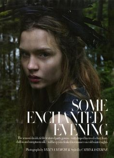 Cloaked in romance, the enchanting Josephine Skriver does Harpers Bazaar (UK) Dec. Ph. Yelena Yemchuk