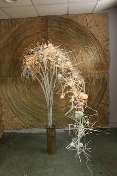 Boris Menyaylov Christmas Flower Arrangements, Christmas Flowers, Floral Arrangements, New Years Decorations, Christmas Decorations, Cascade Design, Flower Installation, Wedding Canopy, Floral Artwork