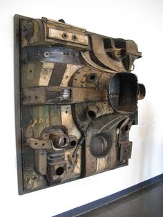 'Lee Bontecou is best known for the sculptures she created in 1959 and the 1960s, which challenged artistic conventions of both materials and presentation by hanging on the wall like a painting. They consist of welded steel frames covered with recycled canvas and other found objects.'