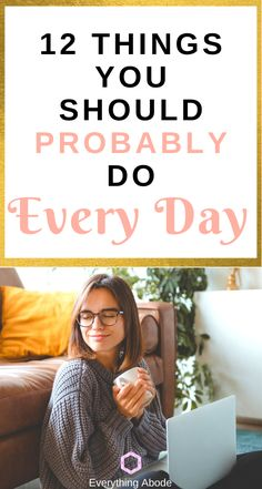 Simple daily habits to feel a little bit better! - Everything Abode Good Habits, Healthy Habits, Healthy Choices, Self Development, Personal Development, Fitness Tips, Health Fitness, Stop Being Lazy, Ways To Reduce Stress
