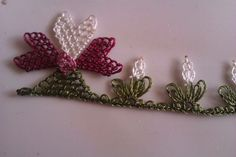 This Pin was discovered by Ays Needle Lace, Tree Branches, Handicraft, Embroidery Stitches, Tatting, Needlework, Diy And Crafts, Art Pieces, Flowers