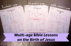 Birth of Jesus Bible Lessons for All Ages - See Jamie blog