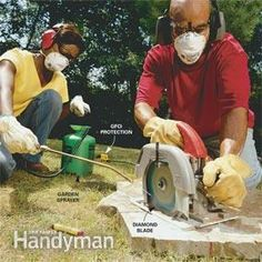 Landscaping: Tips for Your Backyard - Article: The Family Handyman Brick Path, Brick And Stone, Stone Path, Stone Walls, Stone Work, Garden Structures, Garden Paths, Garden Arbor, Garden Stairs