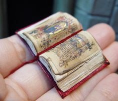 """Miniature Illuminated Medieval Open Bible by American Artist Ericka van Horn >> For more """"Swoon Worthy"""" Miniatures (Oh the many Treasures!) >> click! >"""