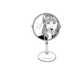 somos solo el reflejo de lo que nos gustaría ser. #todoloquenuncatedijeloguardoaqui #saraherranz #illustration