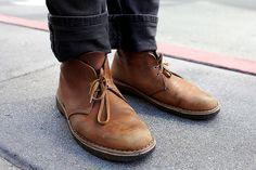 Well worn Clarks