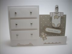 Stampin Up Baby Dresser card