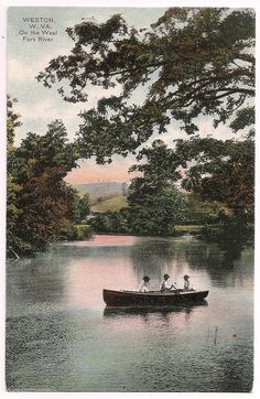 Weston, West Virginia, West Fork River, postmarked 1909