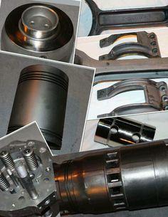 EMD 645 series locomotive power assembly