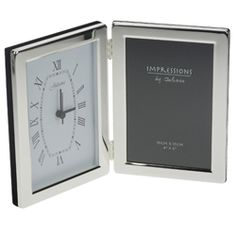Engraved Silver Clock Photo Frame 4 x 6 #fathersday