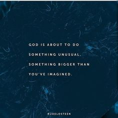 null    #Regram via @_joelosteen_fan_page Joel Osteen, Something Big, Verse Of The Day, Fan Page, Spirituality, God, Instagram Posts, Movie Posters, Movies