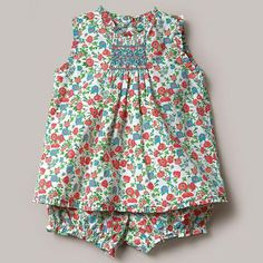 Bloomer set; although this is a purchased set it should be easy to sew; note the small ruffles around neck, sleeves and hemline