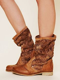 slouchy crochet boots